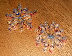 inspiration ~ The Mad Recycler: Quilled Soda Can Snowflakes