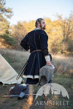 "Embroidered Viking Woolen Coat Kaftan ""Jarl Eric"""