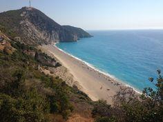 Milos Beach ve městě Λευκάδα, Λευκάδα Greece, Most Beautiful, Hiking, Island, Beach, Places, Water, Outdoor, Greece Country
