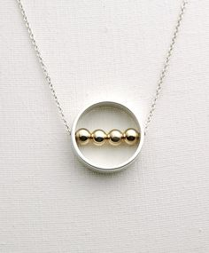 Sterling Silver Karma Circle Ring Necklace with by MyveraDesign, $49.00