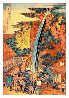 Roben Waterfall at Oyama in Sagami Province by Katsushika Hokusai