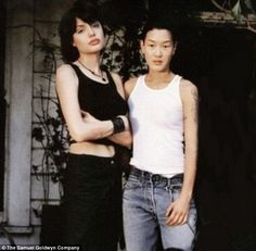 Wedding bells all around: Angelina Jolie's ex-lesbian lover Jenny Shimizu (R) is also gett...