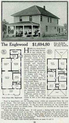 b7567aa23a84a40f84dedf680930ff7c vintage house plans kit homes the revere (an american foursquare kit house house plan) homes,1900 House Plans