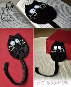 67 Trendy Ideas For Crochet Bookmark Cat Pattern Marque-pages Au Crochet, Chat Crochet, Crochet Motifs, Crochet Amigurumi, Crochet Books, Crochet Home, Crochet Gifts, Crochet Stitches, Free Crochet