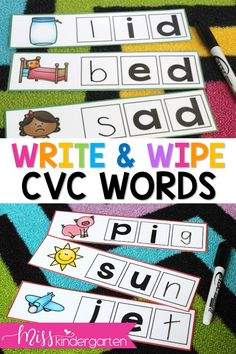 Students have to figure out the last sound in these CVC words using pictures! Use them to practice word families to for struggling readers who need help listening for the ending sounds in words! #teaching #literacy
