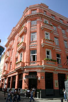 Hotel Ambos Mundos, Havana, Cuba. Hemingway used to stay in this hotel. They allegedly make the BEST mojitos....