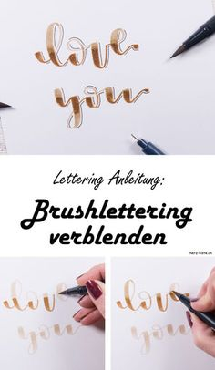 Letter Lovers: jane_carrot zu Gast Lettering Guide: How To Blend Brushlettering - A Simple Guide That Will Improve Handlettering And Get Great Results. Brush Lettering Worksheet, Brush Lettering Quotes, Lettering Guide, Lettering Ideas, Bullet Journal Hand Lettering, Bullet Journal Diy, Bullet Journals, Hand Lettering For Beginners, Hand Lettering Tutorial