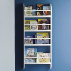 Skinny Bookcase, White A narrow version of our bestselling kids' bookcase which is ideal for storing awkwardly sized picture books.A narrow version of our bestselling kids' bookcase which is ideal for storing awkwardly sized picture books. Wall Mounted Bookshelves, Tree Bookshelf, Bookshelf Storage, Wall Shelves, Shelving, Toy Storage, Bookshelf Ideas, Storage Ideas, Toddler Bookcase