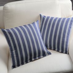 Long Island Stripes 2 - Cotton - blue grey