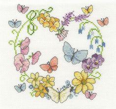 Butterflies In Bloom Cross Stitch Kit