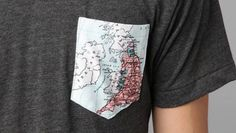 World grey Pocket T Shirt