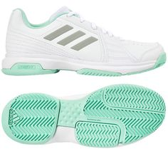 sneakers for cheap d0575 92841 adidas Aspire Womens Tennis Shoes White Mint Racquet Racket Basic NWT  BB7652 adidas Rackets,