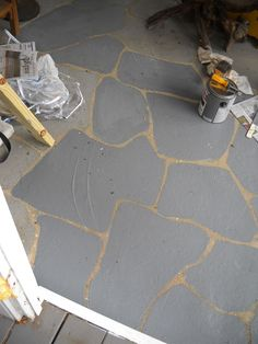 How To Paint A Concrete Floor Start At The Back Of The