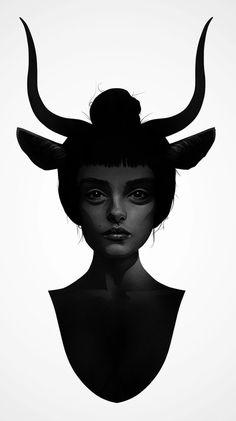 10 amazing black and white feminine portraits on t-shirts from the surreal universe of Ruben Ireland #fancy #surreal #feminine