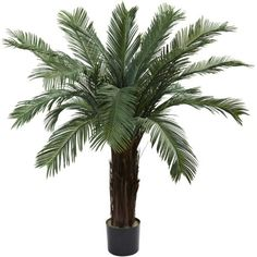 Wholesale 4Ft Cycas Tree UV Resistant Indoor/Outdoor) , [Decor, Silk Flowers] -- You can get additional details at the image link.