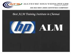 Alltechz Solutions offers Best ALM Training Institute in Chennai. ATS is the Best place to get any IT Training in Chennai. ATS offers the ALM training to the students from very basic to advanced level upto Automation Test Frameworks. AllTechZ is a group of highly experienced professionals, and we share our experience to our students what we had in the industry. ATS strongly believe that practical training would be more understandable compare to theoretical.