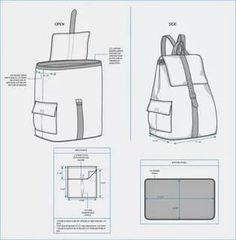 выкройка рюкзака с размерами: 17 тыс изображений найдено в Яндекс.Картинках