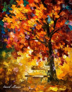 Dreams Of Autumn — PALETTE KNIFE Oil Painting On Canvas By Leonid Afremov #afremov #leonidafremov #art #paintings #fineart #gifts #popular #colorful