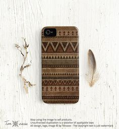 Tribal iPhone 5 case 4s 4 case indian iPhone 4 4s and 5 by TonCase, $23.99
