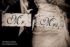 a4c91917e6f406 MR AND MRS Signs