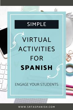 Virtual Class Meeting Games for Language Learners - SRTA Spanish Spanish Teaching Resources, Spanish Activities, Spanish Lessons Online, Spanish Lesson Plans, Study Spanish, Classroom Commands, Middle School Spanish, Virtual Class, Teachers Toolbox