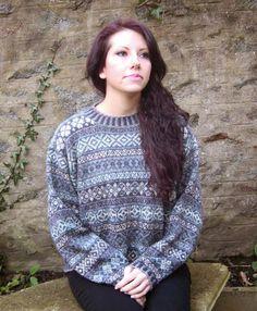 Shetland Handspun: Fair Isle Allovers Fair Isle Knitting Patterns, Knitting Machine Patterns, Nordic Sweater, Fair Isles, Shades Of Purple, Craft Fairs, Knit Crochet, Chrochet, Blues
