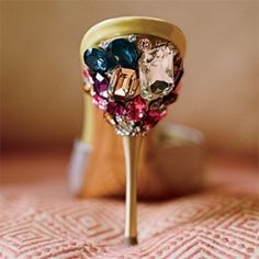 Miu Miu shoes...these would be perfect as the one and only shot of bling...everything else...minimal