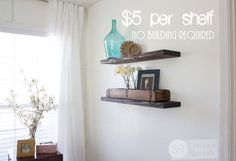 Quick, Easy & Cheap DIY Floating Shelves | Southern Revivals - Southern Revivals