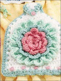 crocheted towel topper-free pattern download
