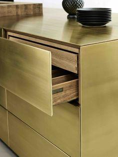 Form 45 // Brass kitchen by Multiform