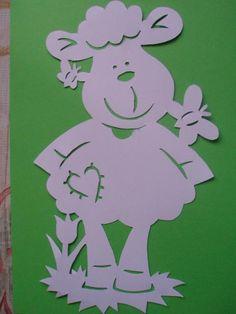 ovečka - veľkonočný filigrán do okna, Tvoríme s deťmi a pre deti
