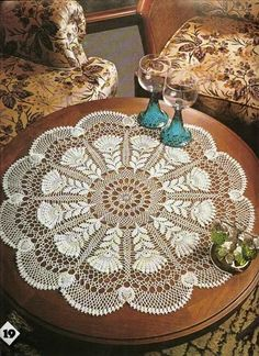crocheted runner | crochet pattern | CROCHETED TABLE RUNNER