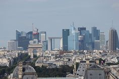 This is La Défense. It is a major business district of the Paris Metropolitan Area. It is also the biggest purpose-built business district in Europe. La Défense is also visited by 8,000,000 tourists each year
