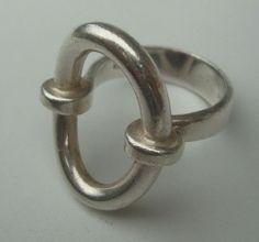 Hans Hansen Sterling Silver Modernist Ring 1960s