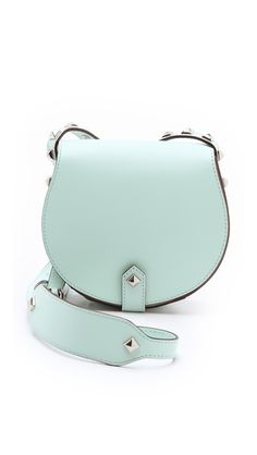 Hot new Rebecca Minkoff cross body. The mint. The studs. Drool.