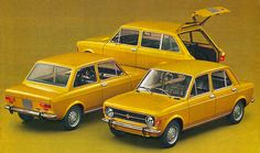Fiat 128 1969-1985. Gotta love the colour choice. - yellow cars