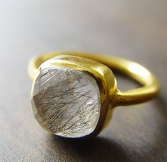 rutilated opal