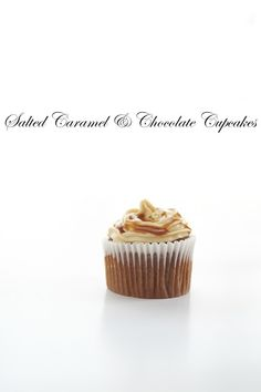 Salted Caramel Cream Cheese Frosting and Caramel Sauce Recipes included here!!  Handicrafts ~月の工作坊~: Salted Caramel & Chocolate Cupcakes
