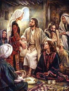 September 19th - Luke 8:1-3: Jesus journeyed from one town and village to another, preaching and proclaiming the good news of the Kingdom of God. Accompanying him were the Twelve and some women who had been cured of evil spirits and infirmities, Mary, called Magdalene, from whom seven demons had gone out, Joanna, the wife of Herod's steward Chuza, Susanna, and many others who provided for them out of their resources.