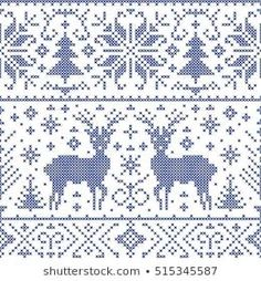 Ideas For Crochet Christmas Afghan Patterns Stitches Christmas Afghan, Christmas Knitting, Christmas Cross, Crochet Christmas, Christmas Deer, Tree Patterns, Afghan Patterns, Cross Stitch Patterns, Knitting Charts