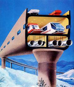 1978, future transportation, retro futuristic vehicle
