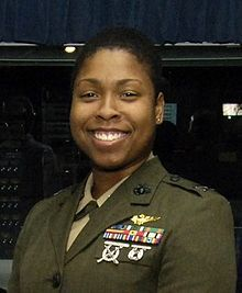 Vernice Armour (born 1973) is a former Captain in the United States Marine Corps who was the first African-American female naval aviator in the Marine Corps and America's first African American female combat pilot in the United States military. She flew the AH-1W SuperCobra attack helicopter in the 2003 invasion of Iraq and eventually served two tours in support of Operation Iraqi Freedom.
