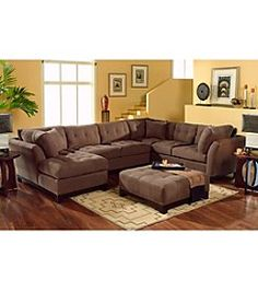 HM Richards Espresso Beckham 3 Pc. Sectional With Chaise