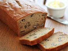 Low Fat Banana Bread (with pecans!) by Zoe Francois via @Cooking Channel
