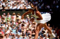 #GarbineMuguruza #Wimbledon2015 #tennis Garbiñe Muguruza during the ladies' singles final at Wimbledon. Jed Leicester/AELTC, from 2015 Wimbledon Championships Website - Official Site by IBM