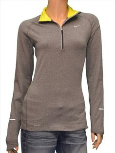 Nike Women's Element Half Zip Long Sleeve Running « If it had thumb holes it would be perfect!!