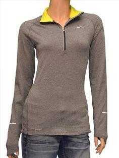 3c0873d0e63bf7 Nike Women s Element Half Zip Long Sleeve Running « Shirt Add Long Sleeve  Running Shirt