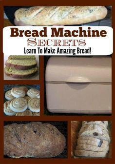 Bread Machine Secrets - Cooking and Baking - Homemade Bread Cooking Bread, Bread Baking, Cooking Recipes, Cooking Videos, Cooking Classes, Cooking Kale, Cooking Artichokes, Quick Bread, How To Make Bread