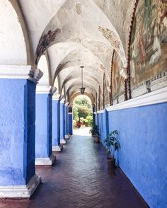 The Santa Catalina Monastery in Arequipa, Peru is full of beautiful vibrant colors at every turn. More on Instagram at Live Like it's the Weekend