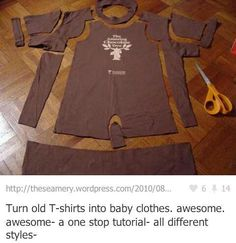 old t shirts into baby clothes